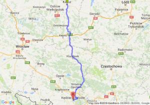 Trasa Kalisz - Kędzierzyn-Koźle