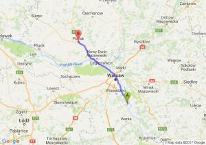 Trasa Góra Kalwaria - Płońsk