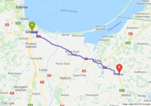 Trasa Gdańsk - Pasłęk