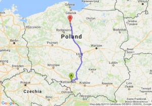 Trasa Gliwice - Warlubie