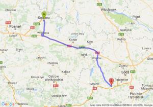 Trasa Gniezno - Łask