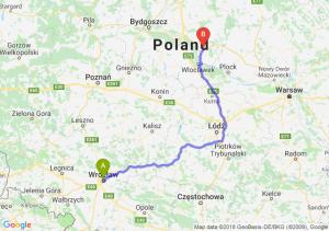 Trasa Wrocław - Lipno