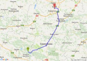 Kolonowskie (opolskie) - Łódź (łódzkie)