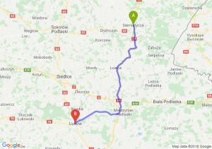 Trasa Siemiatycze - Łuków
