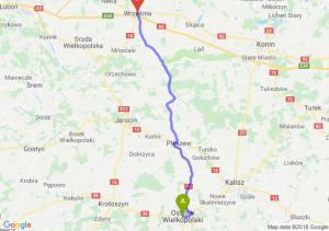 Trasa Ostrów Wielkopolski - Września