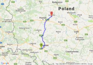 Trasa Kąty Wrocławskie - Gniezno