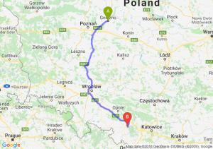Trasa Gniezno - Kędzierzyn-Koźle