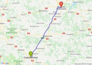 Trasa Częstochowa - Piotrków Trybunalski