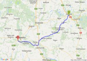 Trasa Ostróda - Białe Błota