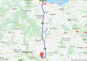 Trasa Gdańsk - Toruń