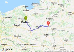 Trasa Toruń - Siemiatycze