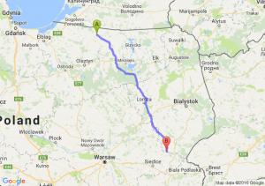 Bartoszyce (warmińsko-mazurskie) - Drohiczyn (podlaskie)