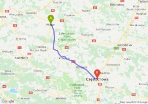Trasa Wieluń - Częstochowa
