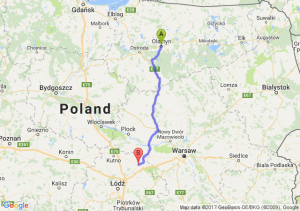 Trasa Olsztyn - Łowicz
