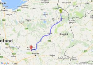 Trasa Suwałki - Nowy Dwór Mazowiecki