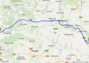 Włocławek (kujawsko-pomorskie) - Strzelce Krajeńskie (lubuskie)