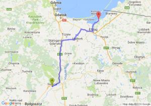 Świecie (kujawsko-pomorskie) - Tolkmicko (warmińsko-mazurskie)