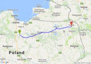 Trasa Kwidzyn - Suwałki