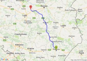 Trasa Rzeszów - Łowicz