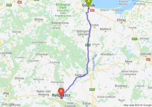 Trasa Gdańsk - Bydgoszcz