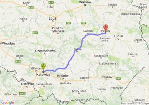 Trasa Katowice - Puławy