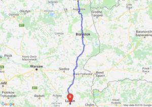 Trasa Suwałki - Lublin