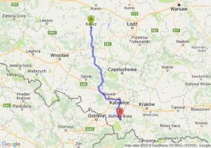 Trasa Kalisz - Bielsko-Biała