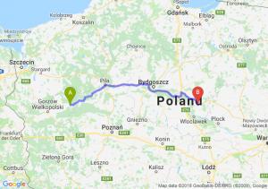 Trasa Drezdenko - Lipno