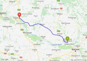 Trasa Nowy Dwór Mazowiecki - Lubicz Dolny