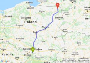 Trasa Bielsko-Biała - Suwałki