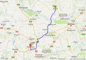 Trasa Płońsk - Pabianice