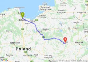 Trasa Gdańsk - Łomża