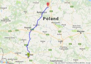 Trasa Bielany Wrocławskie - Morsk