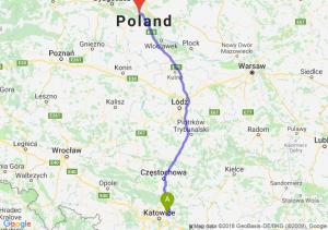 Trasa Dąbrowa Górnicza - Toruń