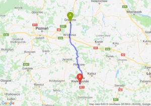 Trasa Gniezno - Ostrów Wielkopolski