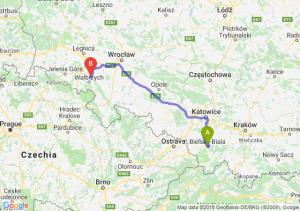 Trasa Bielsko-Biała - Świebodzice