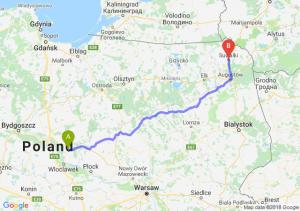 Trasa Lipno - Suwałki