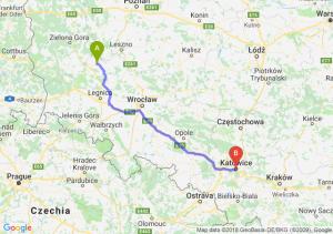 Trasa Głogów - Katowice