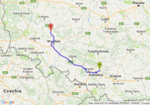 Trasa Dąbrowa Górnicza - Żmigród