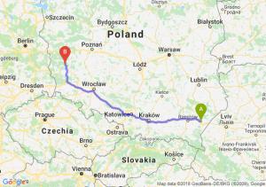 Trasa Jarosław - Zielona Góra