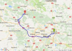 Trasa Dąbrowa Górnicza - Zawadzkie