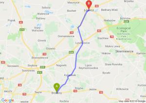 Trasa Brzeziny - Łowicz