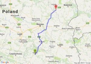 Trasa Kielce - Zambrów