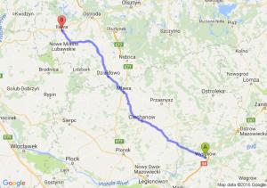 Wyszków (mazowieckie) - Iława (warmińsko-mazurskie)