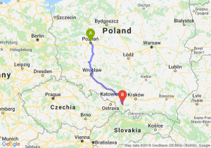 Trasa Poznań - Bielsko-Biała