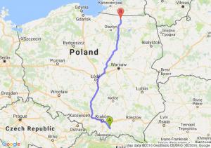 Limanowa (małopolskie) - Korsze (warmińsko-mazurskie)