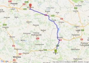Trasa Wieluń - Września