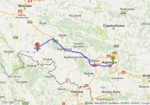 Trasa Sosnowiec - Nysa