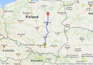 Trasa Brzesko - Maków Mazowiecki