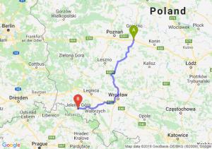 Trasa Września - Jelenia Góra